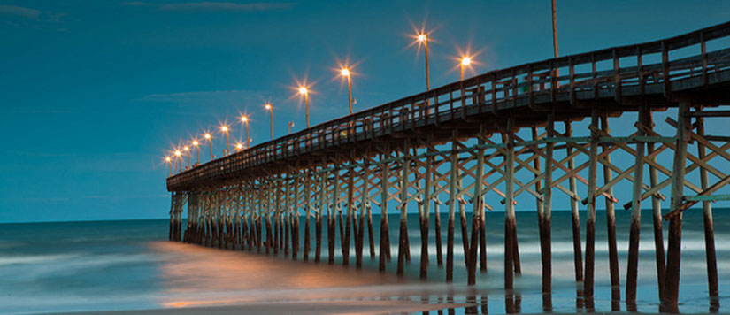 Ocean Isle Peir at Night