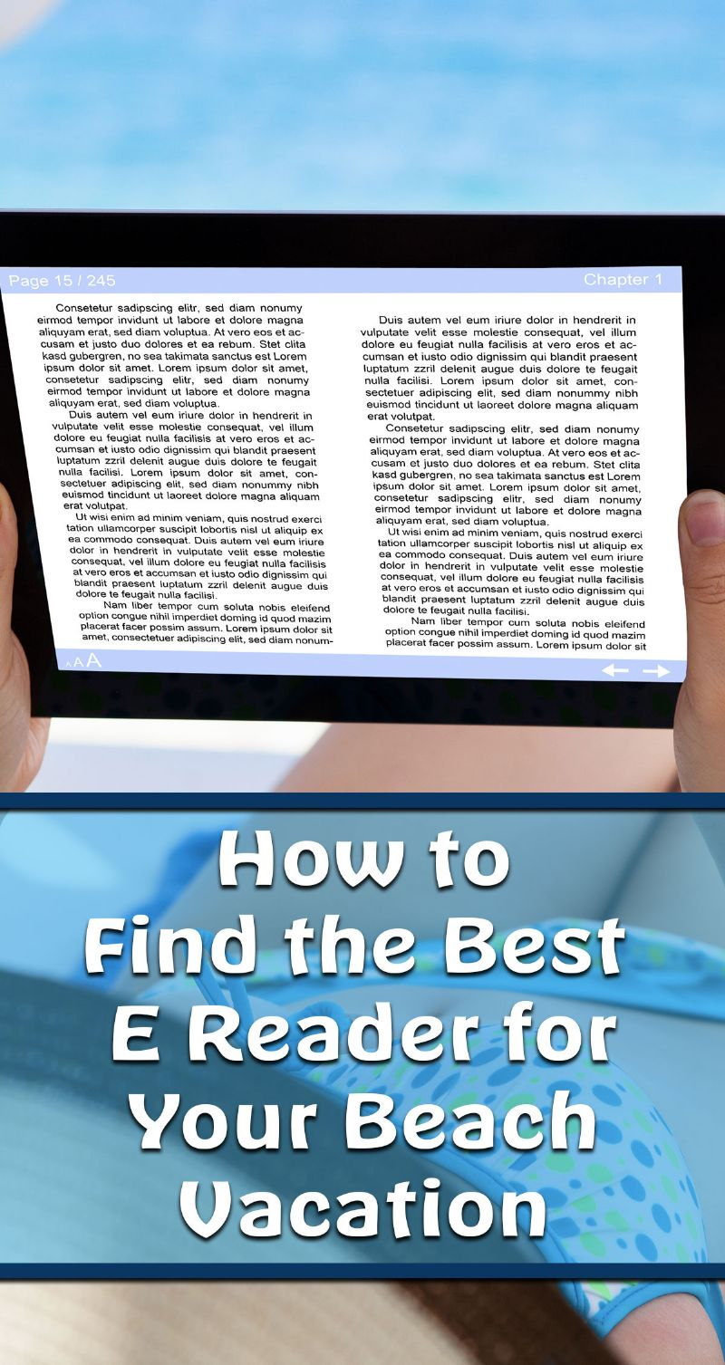 Best E Reader for Your Beach Vacation Pin