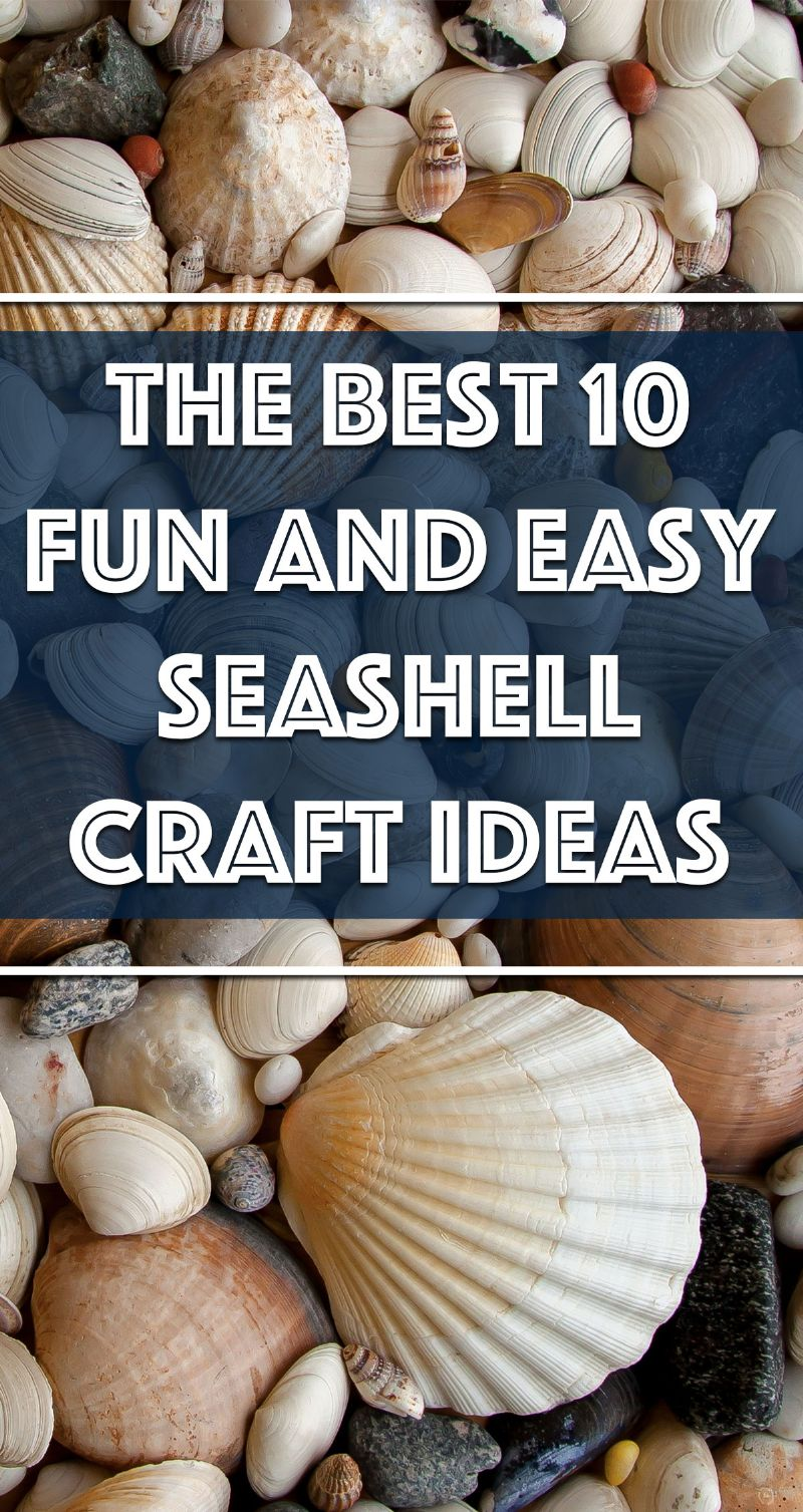 The Best 10 Fun and Easy Seashell Craft Ideas Pin