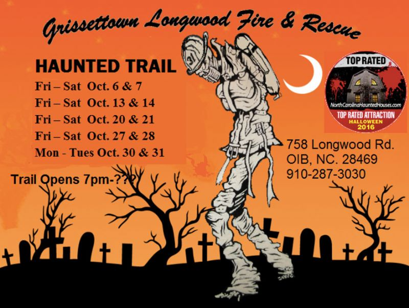 Haunted Trail Schedule