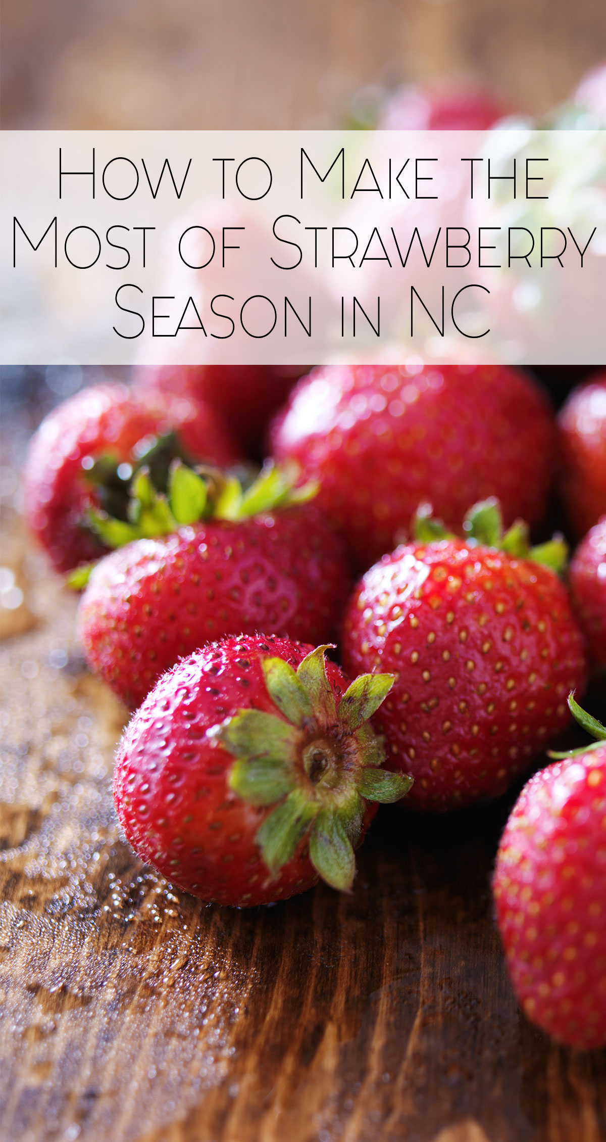 How to Make the Most of Strawberry Season in Coastal NC Pin