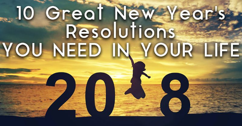 Great New Year's Resolutions