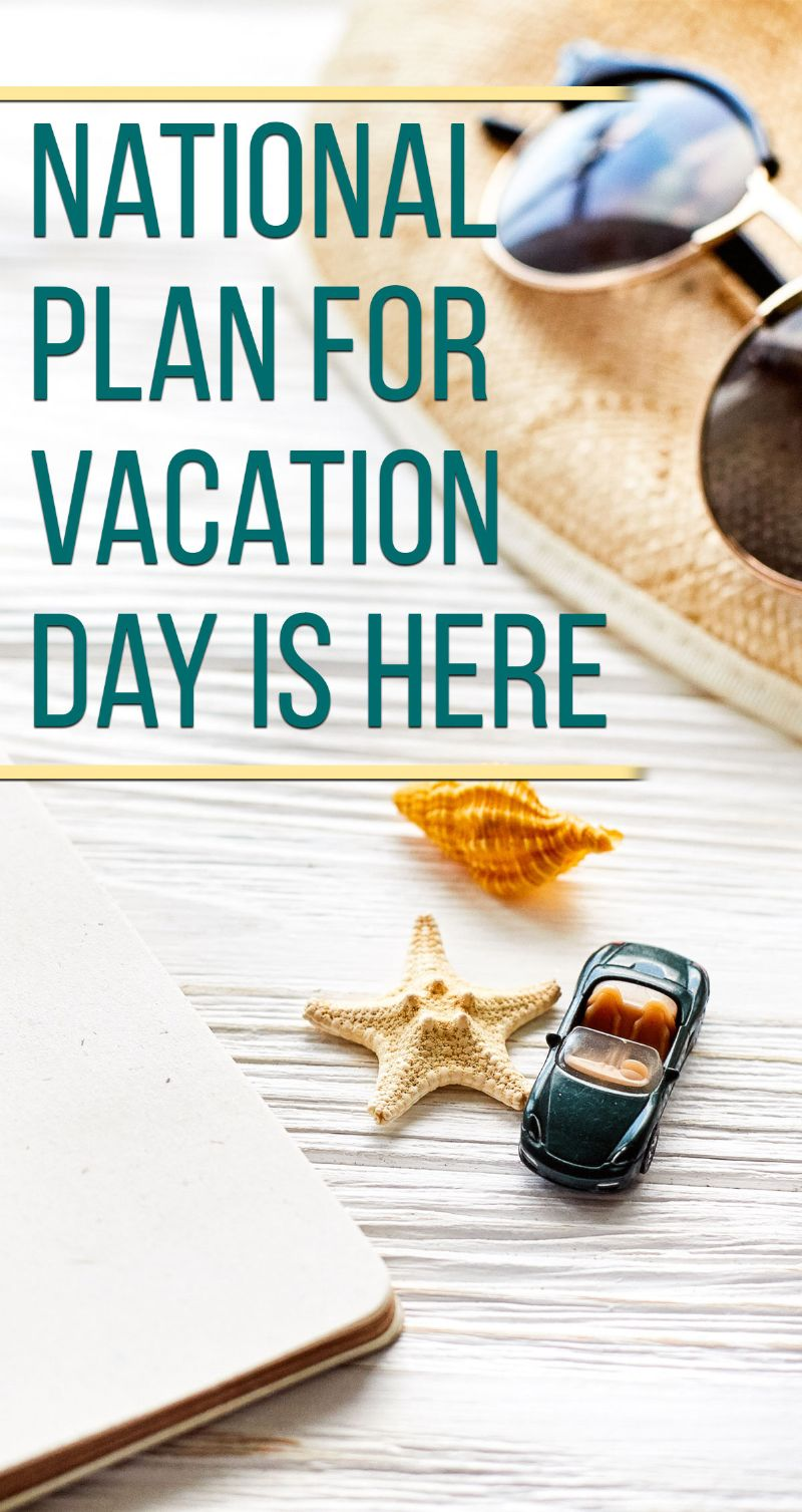 National Plan For Vacation Day Pin