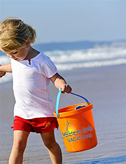 Girl with Bucket on the Beach