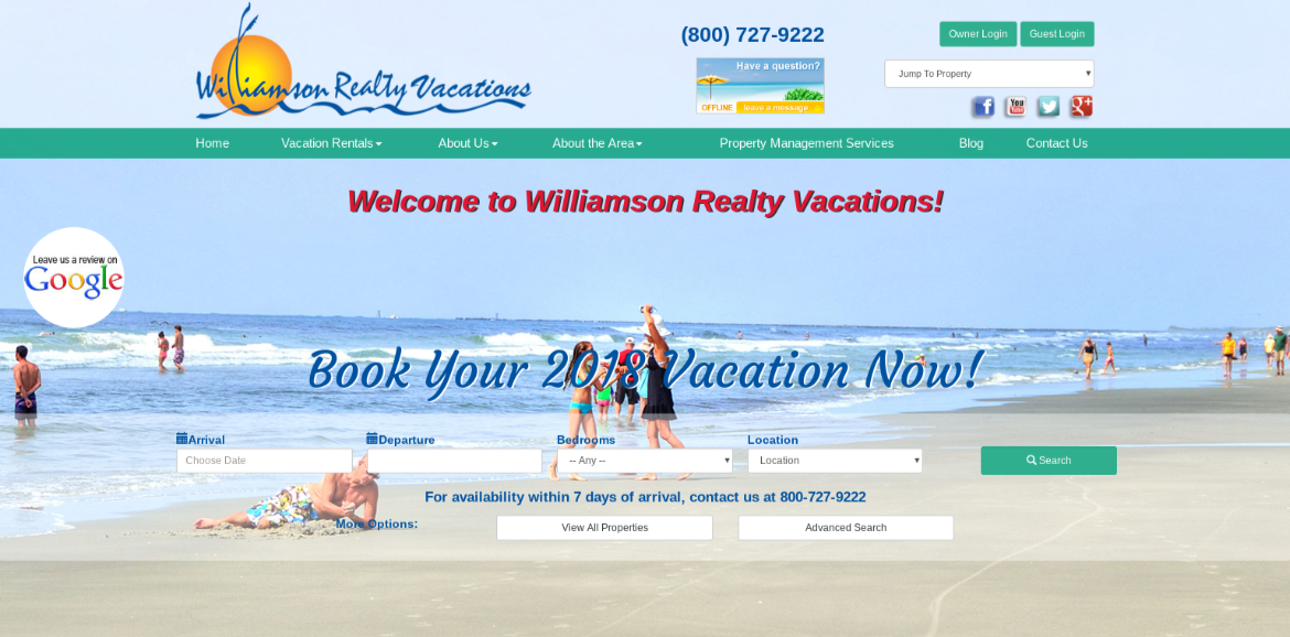 book online | Williamson Realty Vacations