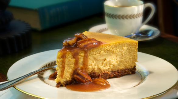 Pumpkin Cheesecake with Bourbon Sauce | Williamson Realty