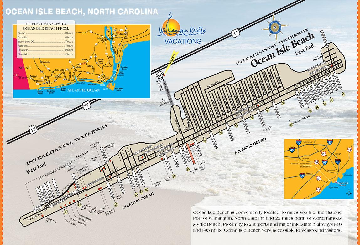 Ocean Isle Beach Area Map
