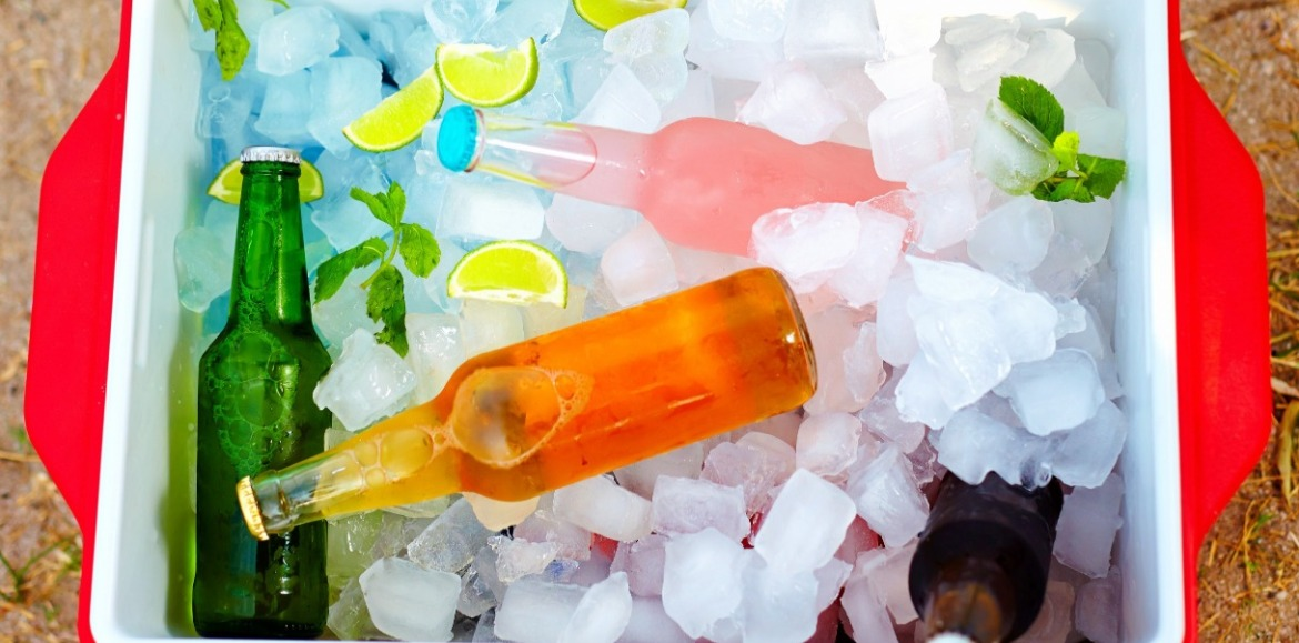 cooler full of drinks and ice | Williamson Realty