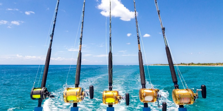 fishing rods off the back of a charter boat | Williamson Realty