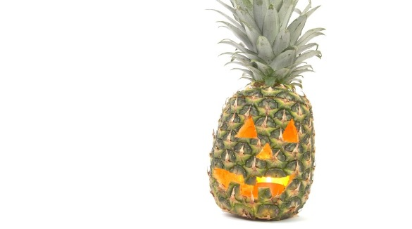 Pineapple Jack-O-Lantern | Williamson Realty Vacations