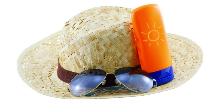 hat, sunglasses, and sunscreen | Williamson Realty