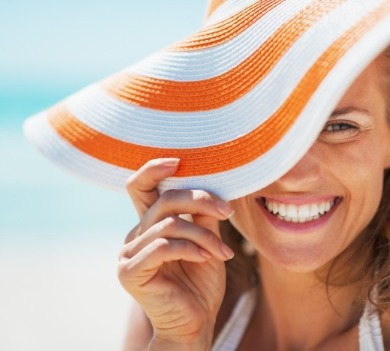 happy woman on vacation | Williamson Realty Vacations