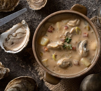 oyster stew with fresh oysters | Ocean Isle Beach NC Vacation Rentals | Williamson Realty