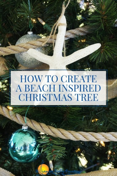 How to Create A Beach Inspired Christmas Tree