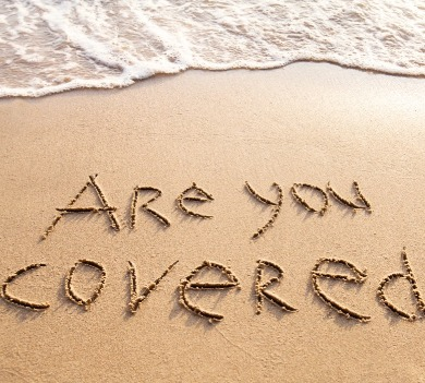 are you covered written in the sand | Williamson Realty